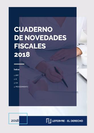 Cuaderno de novedades fiscales 2018