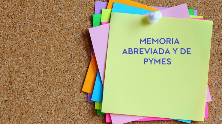 La memoria abreviada y de PYME de las cuentas anuales. Elaboración e información que debe suministrar
